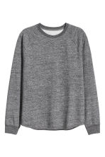 Sweatshirt with raglan sleeves - Dark grey marl - Men | H&M CN 2