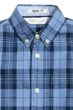 Cotton shirt - Dark blue/Checked - Kids | H&M CA 4