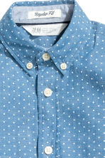 Cotton shirt - Denim blue/Spotted - Kids | H&M 4