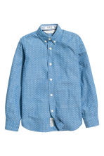 Cotton shirt - Denim blue/Spotted - Kids | H&M 2