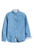 Cotton shirt - Denim blue/Spotted - Kids | H&M 3