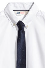 Shirt with tie/bow tie - White -  | H&M 3