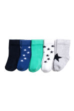 5-pack socks - Light grey/Star - Kids | H&M 1