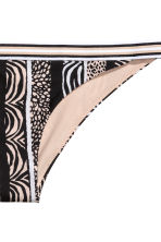 Bikini bottoms - Black/Beige/Patterned - Ladies | H&M 3