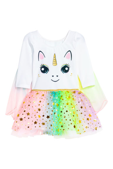 Tutù con gonna in tulle - Bianco/unicorno - BAMBINO | H&M IT 1