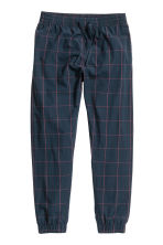 Cotton pyjama bottoms - Dark blue/Checked - Men | H&M 2