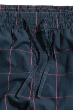 Cotton pyjama bottoms - Dark blue/Checked - Men | H&M 3