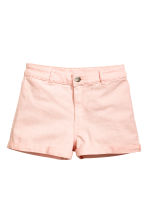 Twill shorts High waist - Light pink - Ladies | H&M CN 2