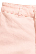 Twill shorts High waist - Light pink - Ladies | H&M CN 4