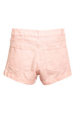 Twill shorts High waist - Light pink - Ladies | H&M CN 3