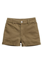 Twill shorts High waist - Khaki green - Ladies | H&M 2