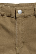 Twill shorts High waist - Khaki green - Ladies | H&M 3