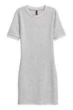 Ribbed jersey dress - Grey marl - Ladies | H&M 2