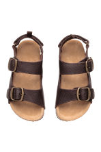 Leather sandals - Dark brown - Kids | H&M CN 2