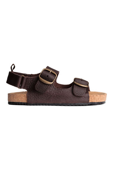 Leather sandals - Dark brown - Kids | H&M 1