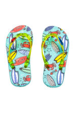 Flip-flops - Mint green/Surfboard - Kids | H&M 1