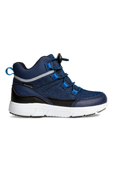 Waterproof hi-top trainers - Dark blue - Kids | H&M