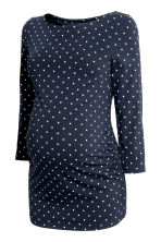 MAMA Top in jersey - Blu scuro/pois - DONNA | H&M IT 2