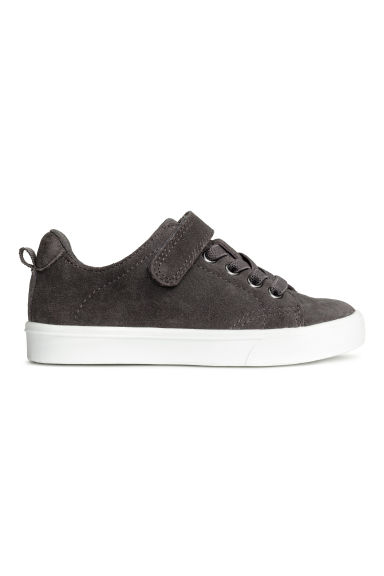 Suede trainers - Dark grey - Kids | H&M CN