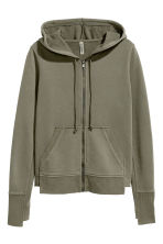 Hooded jacket - Khaki green - Ladies | H&M 2
