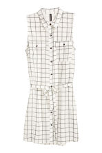 Sleeveless shirt dress - Natural white/Checke - Ladies | H&M CN 2