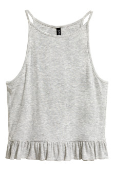 Ribbed jersey vest top
