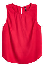 Sleeveless blouse - Red - Ladies | H&M CA 2