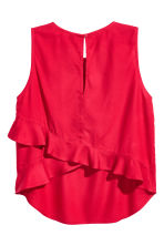 Sleeveless blouse - Red - Ladies | H&M CA 3