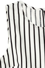 Sleeveless blouse - White/Black striped - Ladies | H&M CN 3
