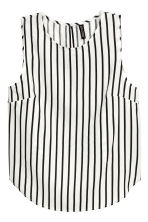 Sleeveless blouse - White/Black striped - Ladies | H&M CN 2