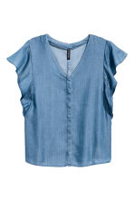 Lyocell blouse - Denim blue - Ladies | H&M CN 2