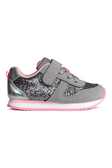Glittery trainers - Grey - Kids | H&M CN 1