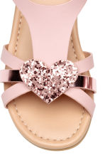 Sandals with appliqués - Light pink - Kids | H&M 4