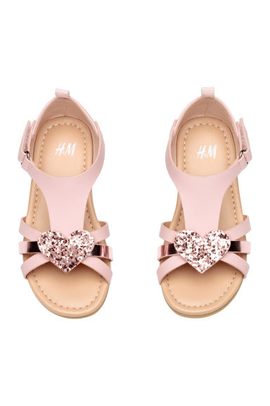 Sandals with appliqués - Light pink - Kids | H&M CA