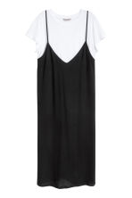 H&M+ Dress with top - Black/White - Ladies | H&M 2