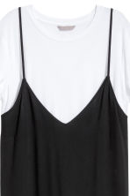 H&M+ Dress with top - Black/White - Ladies | H&M 3
