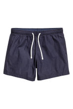 Seersucker swim shorts - Dark blue/Striped - Men | H&M CN 2