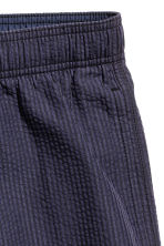 Seersucker swim shorts - Dark blue/Striped - Men | H&M CN 3