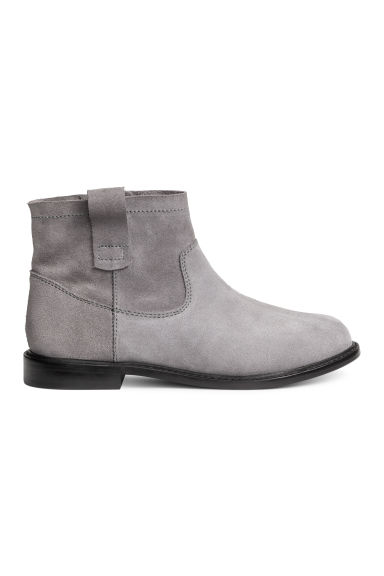 Suede ankle boots - Dark grey -  | H&M 1