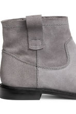 Suede ankle boots - Dark grey -  | H&M 4
