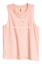 Sports vest top - Powder pink marl - Ladies | H&M CN 2