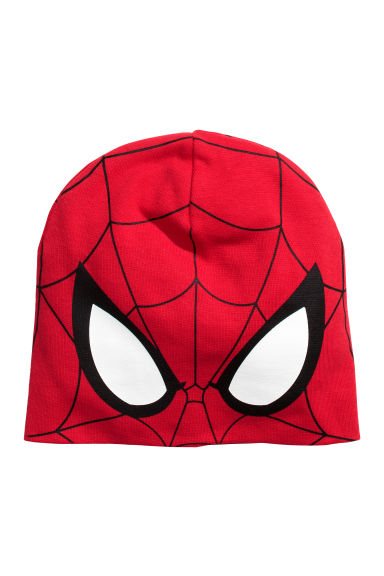 Bonnet en jersey - Rouge/Spiderman - ENFANT | H&M FR 1