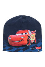 Jersey hat - Dark blue/Cars - Kids | H&M CN 1