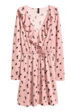Wrap dress - Light pink/Swallows - Ladies | H&M 2