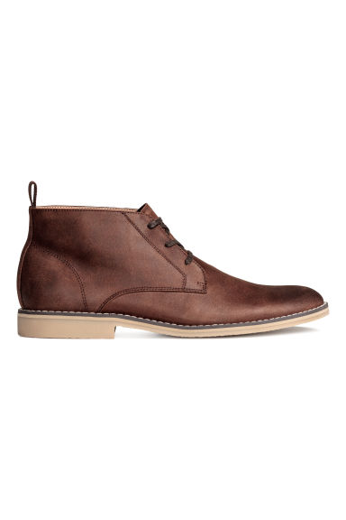 Chukka boots - Dark cognac brown - Men | H&M 1