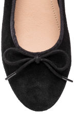 Suede ballet pumps - Black - Kids | H&M CN 5