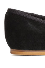 Suede ballet pumps - Black - Kids | H&M CN 4