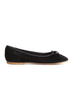 Suede ballet pumps - Black - Kids | H&M CN 3