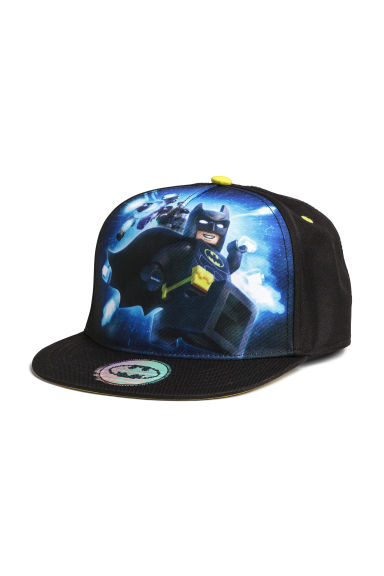 Cap with a print motif - Black/Lego - Kids | H&M CN