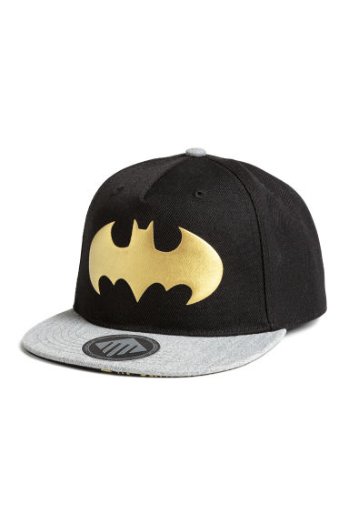 Cap with a print motif - Black/Batman - Kids | H&M